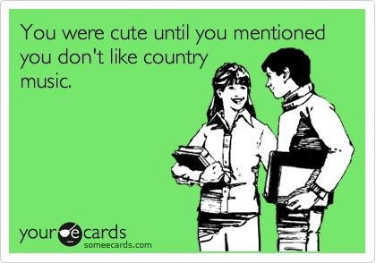 Country music over anything