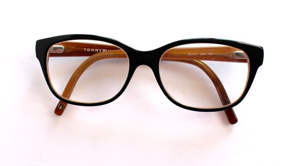 3466e973f6e Tommy Hilfiger Glasses Eyeglasses Frames Black Brown TH 1017 UNO 140 Rx Eye   TommyHilfiger
