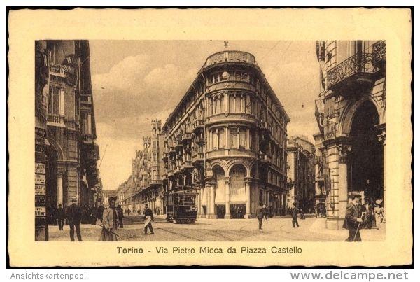 Torino Turin Piemonte, Via Pietro Micca da Piazza Castello 1911