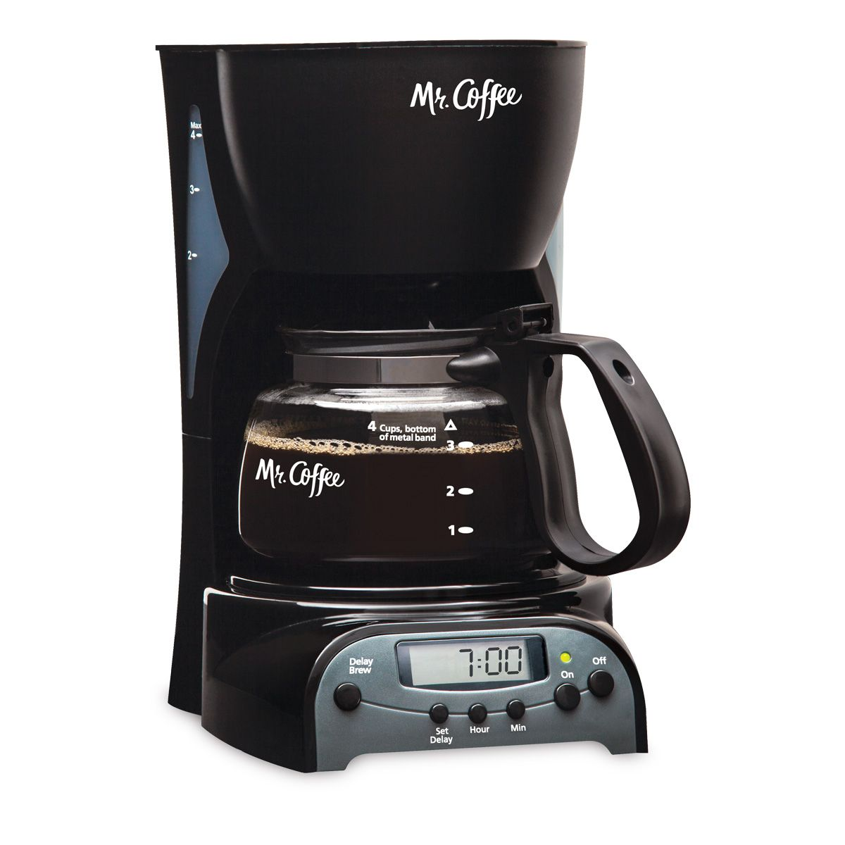 Mr Coffee Simple Brew 4 Cup Programmable Coffee Maker Black Drx5 Rb 0 Mr Coffee Best Coffee Maker 4 Cup Coffee Maker