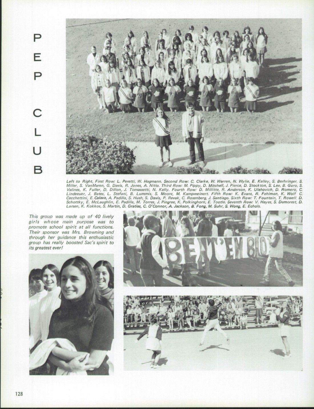 1970 Sacramento High School Yearbook via Classmates.com
