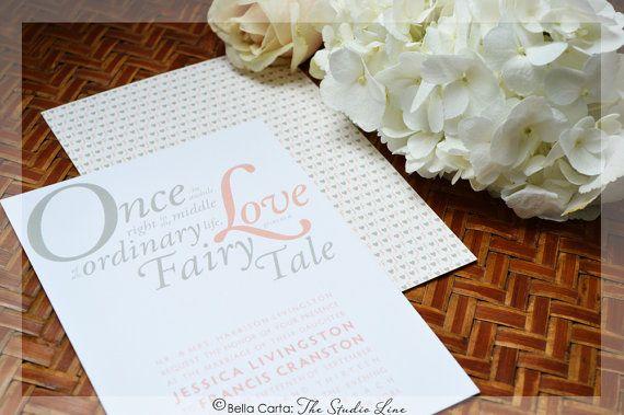 Love gives us a Fairy Tale Modern Wedding Invitation - SAMPLE - sample wedding guest list