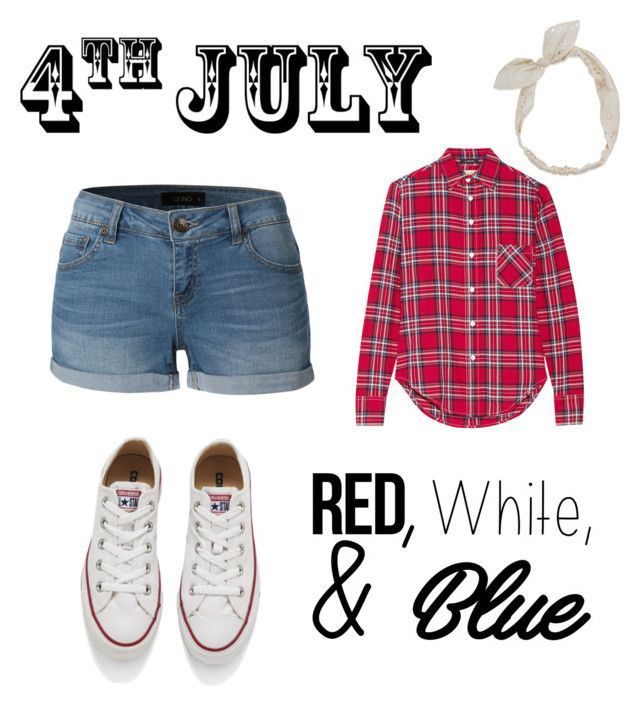"""An outfit for a 4th of July  Barbecue with friends and family. :)"" by sa-sarah on Polyvore featuring Converse, R13, LE3NO, Carole, redwhiteandblue and july4th"