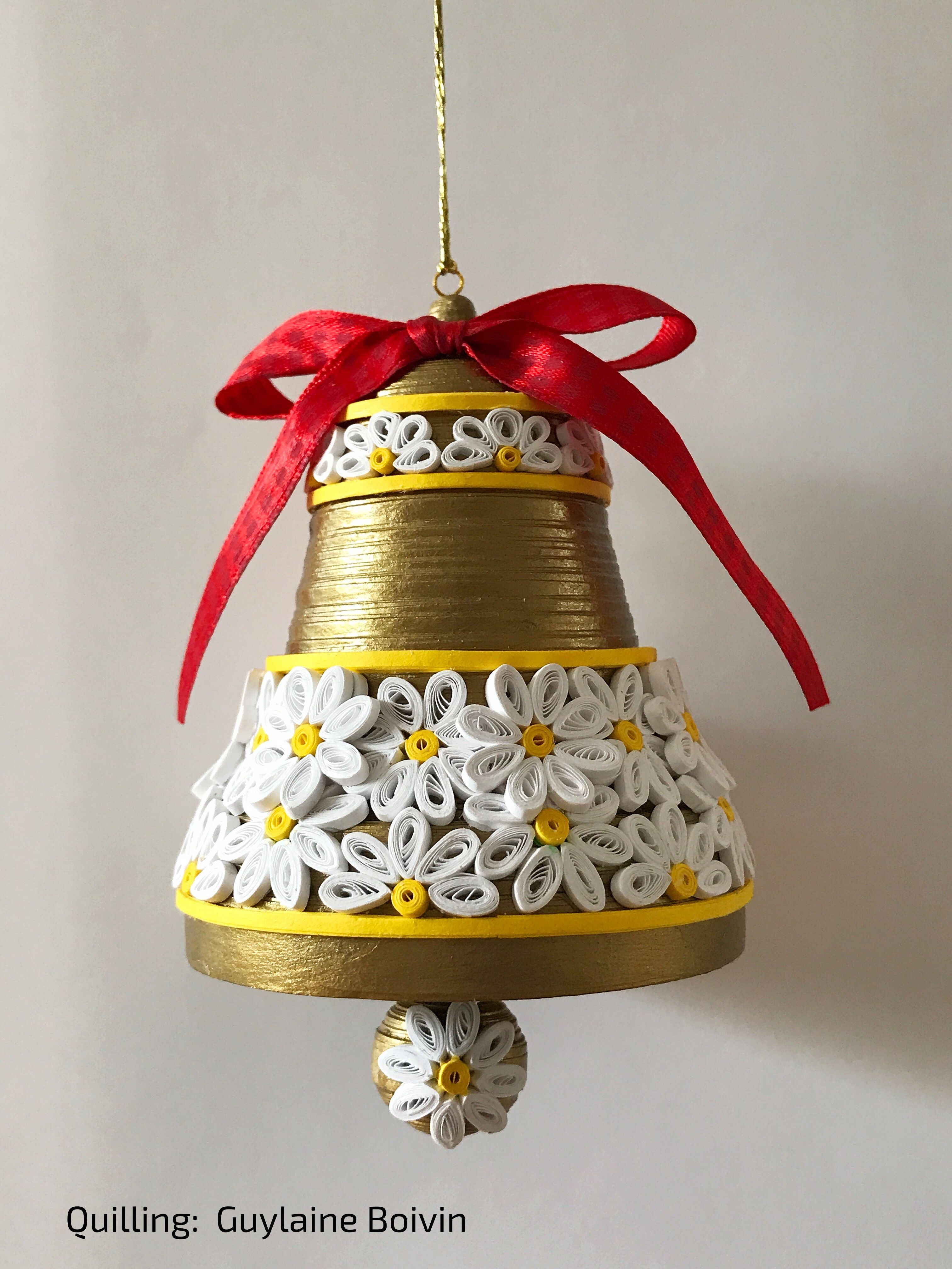 Papercraft Cloche De No L En Quilling  Quilled Christmas