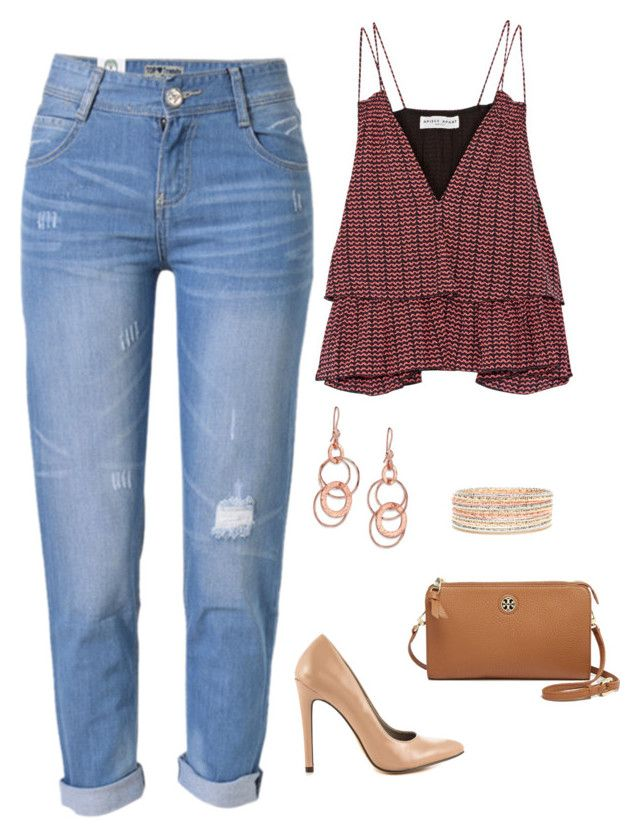 """""""Untitled #1256"""" by netteskytte on Polyvore featuring Apiece Apart, WithChic, Michael Antonio, Tory Burch and Ippolita"""