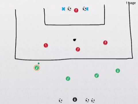 4v4 Attacking Defending Quick Transition Practice Soccer / Football / Coaching - Top Soccer Drills
