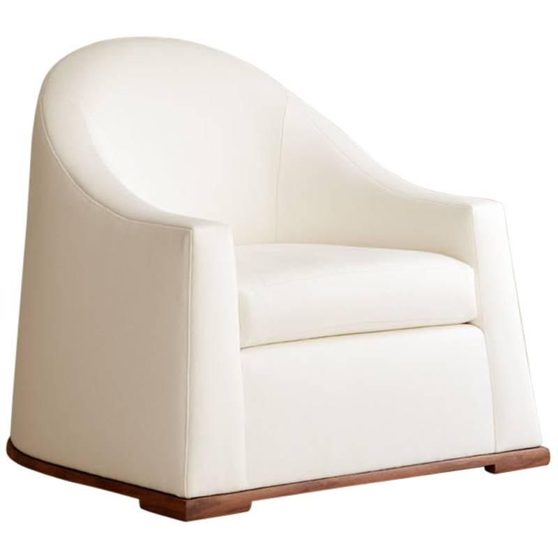 Contemporary Milano Lounge Chair, Custom and Made to Order by Dmitriy & Co