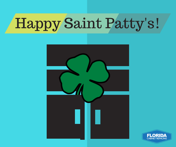Spruce up your cabinets this Saint Patty's with a four leaf clover!