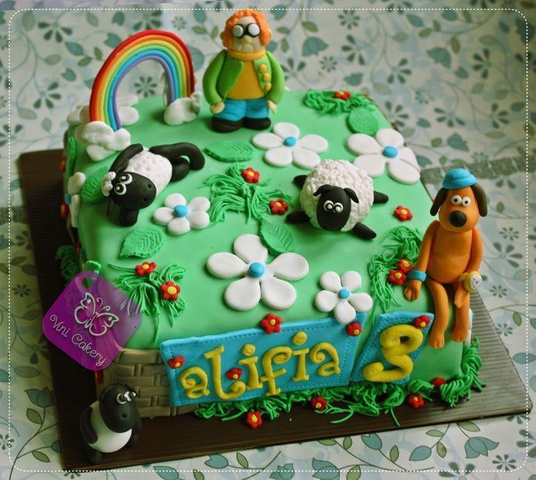 Shaun The Sheep Cake Vini Cakery Shaun The Sheep Birthday Cake