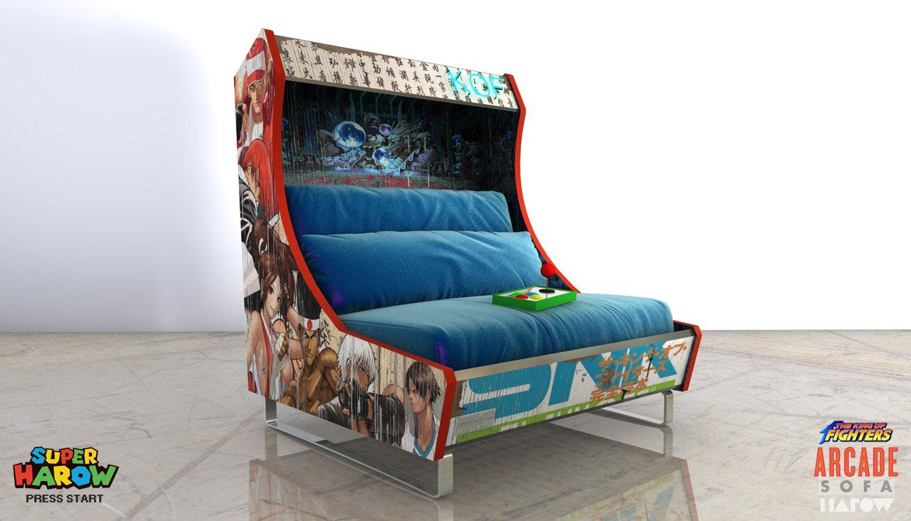 This Sofa Looks Like a Classic Arcade Cabinet | Arcade