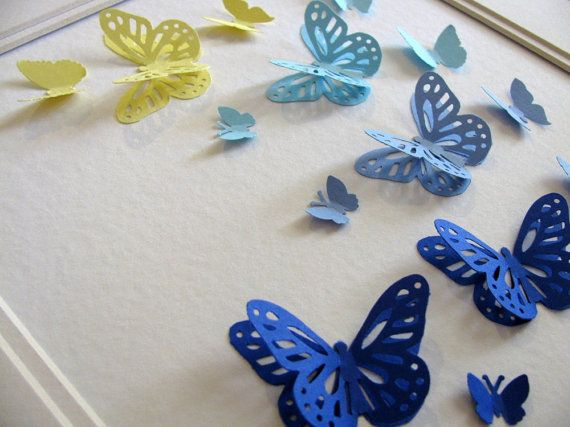 layered butterfly art