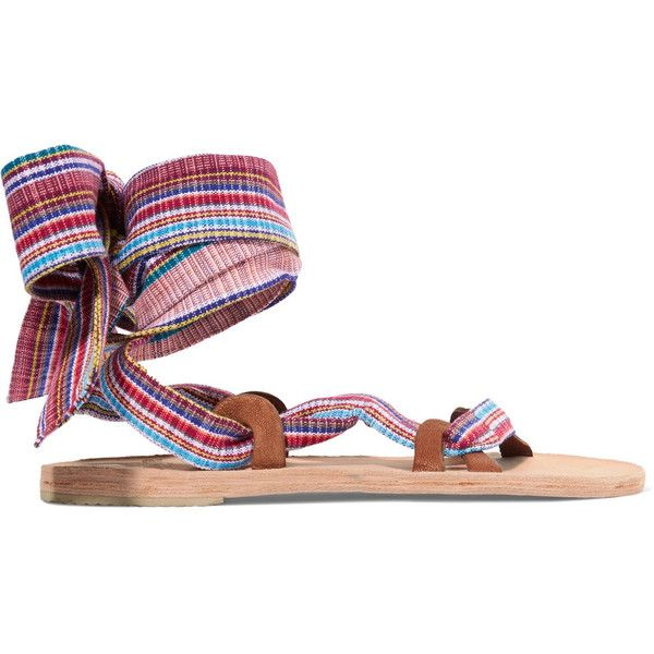 a53957c75 Brother Vellies Zanzibar woven canvas sandals ( 310) ❤ liked on Polyvore  featuring shoes