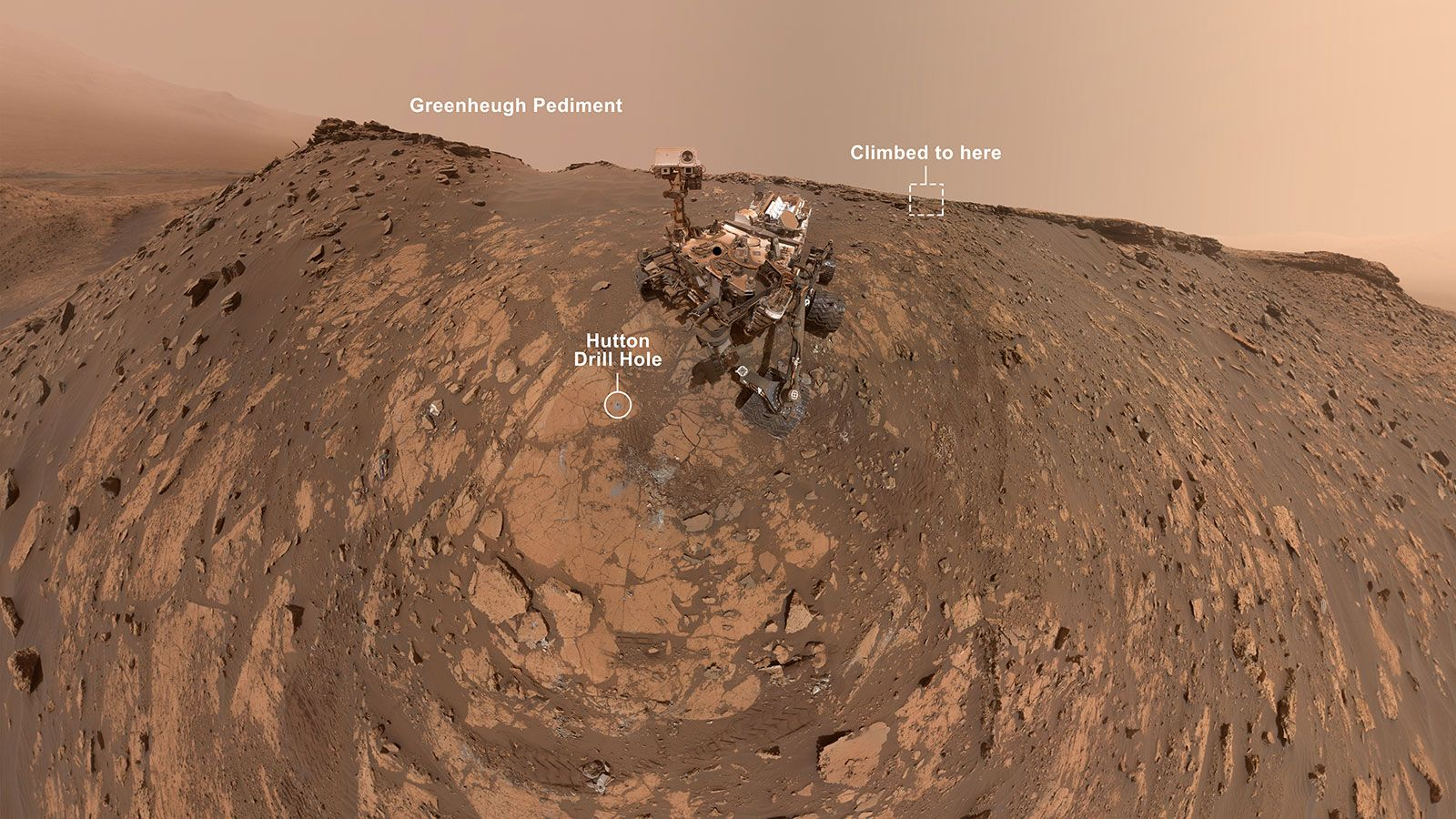 Nasa S Curiosity Mars Rover Takes A New Selfie Before Record Climb In 2020
