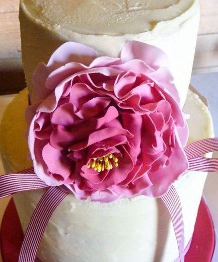 Buttercream frosting sugar peony celebration cake. https://www.facebook.com/pages/Strawberry-Sky-Cakes/155937597766548