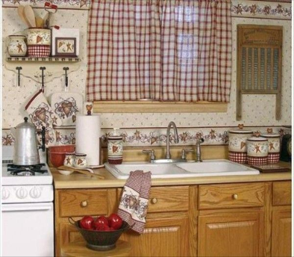 46 Fabulous Country Kitchen Designs Ideas: Country Kitchen Curtains, Kitchen Curtain