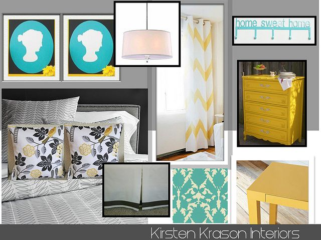 bedroom design board yellow and turquoise bedroom house design rh pinterest com
