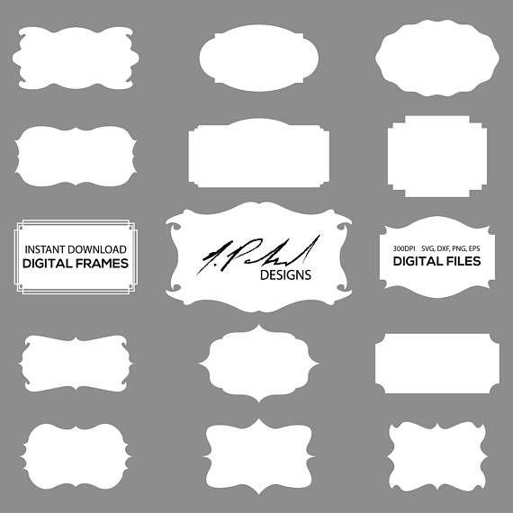 White Frame Digital Cut Files - Digital Files - Frame SVG - Frame ...