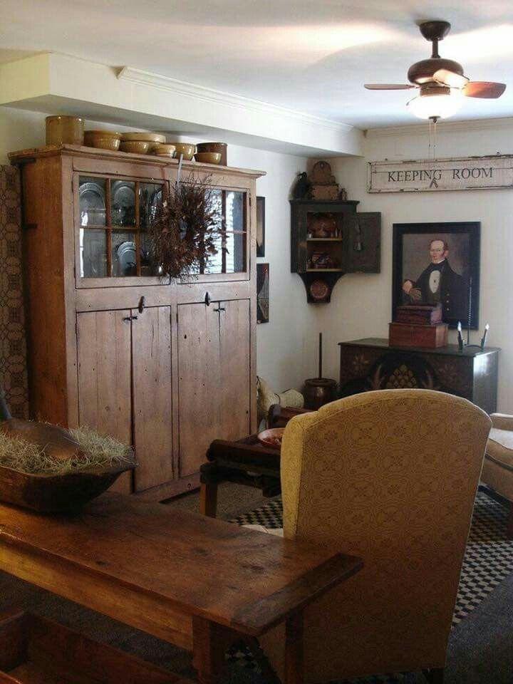 pincarrie owen on house plans  primitive living room