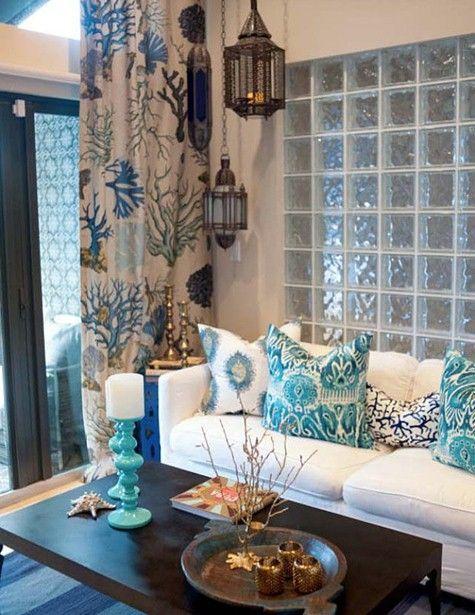 Farol arabe de forja y cristal florida room decoraci n - Decoracion arabe interiores ...