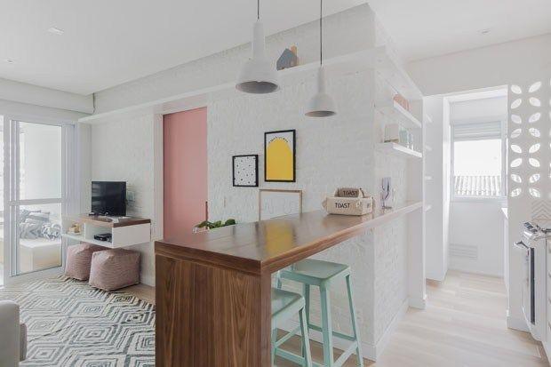 Un petit appartement pastel au Brésil