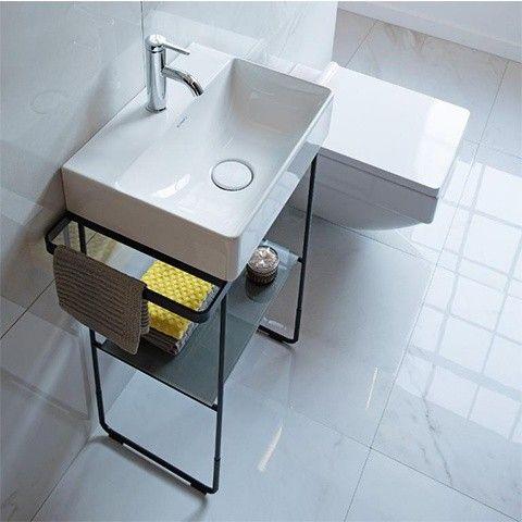 Duravit Durasquare Metallkonsole 0031091000 Bodenstehend Zu Waschtisch 073245 Chrom Duravit Waschtisch Kleines Bad Renovierungen