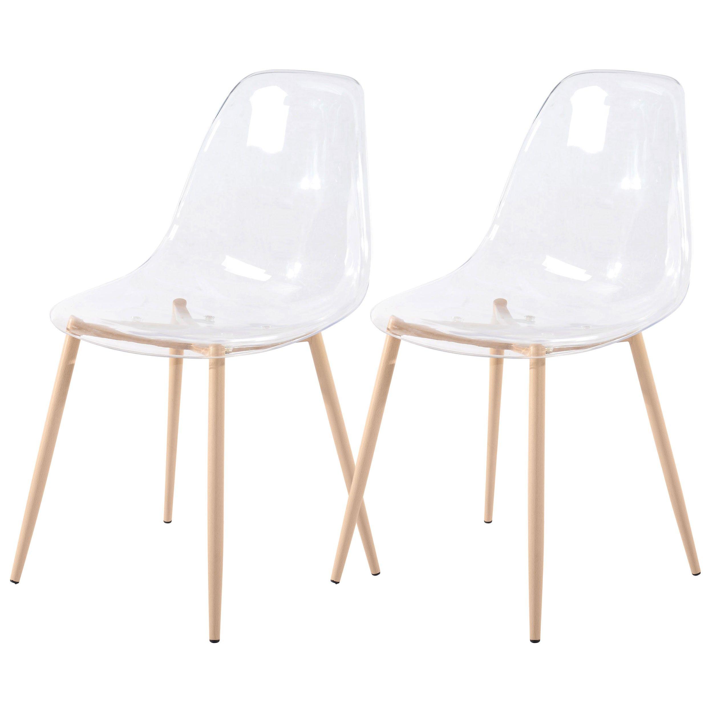 Chaise Fredrik Transparente Lot De 2 Chaise Design Pas Cher Chaise Transparente Chaise Design
