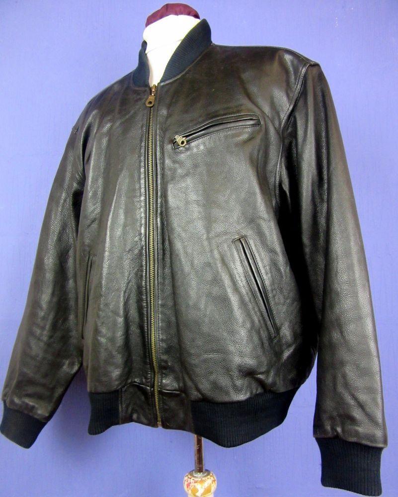 Men 039 S Black Real Leather Bomber Jacket Loose Fit Xlarge Cj154 Ebay Leather Bomber Jackets Leather Bomber Jacket [ 1000 x 801 Pixel ]