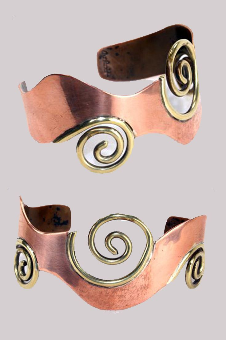 Cuff bracelet | Art Smith. Copper and brass. Signed. || 2395$