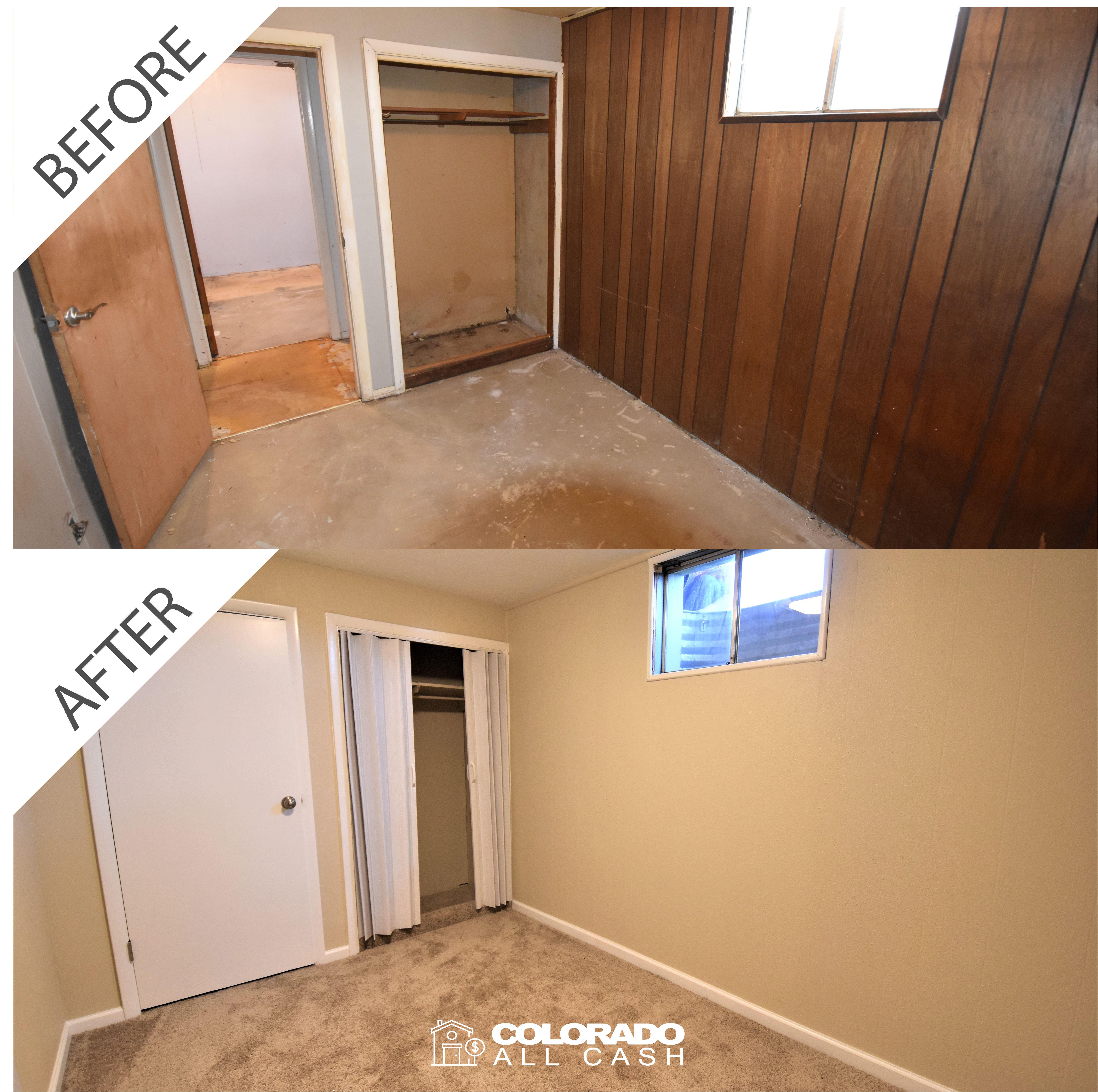 Colorado All Cash Home Renovations Bedroom Remodel Before After Bedroomremodel Bedroomrenovation Bedroommakeover Homemakeover Homerenovation