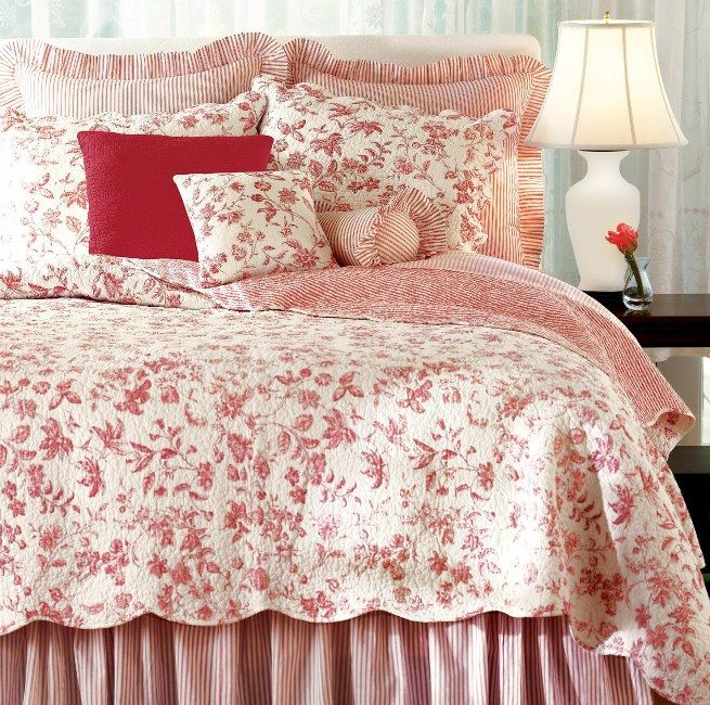 Bedroom Decorating Ideas Totally Toile: Williamsburg Colonial In 2019