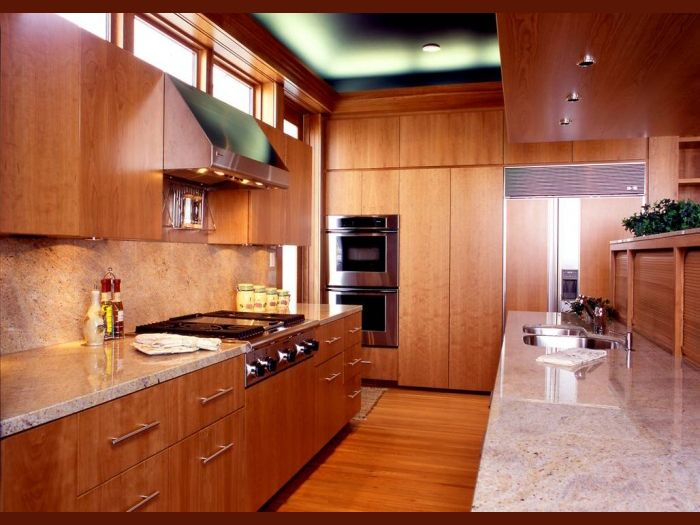 Bob Ruk Natural Cherry Kitchen Cabinets 4 Modern With In