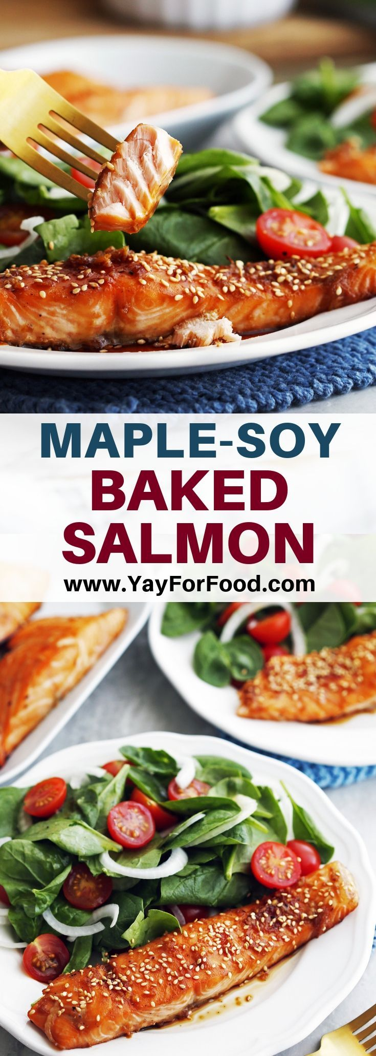 Maple-Soy Baked Salmon Recipe - Yay! For Food