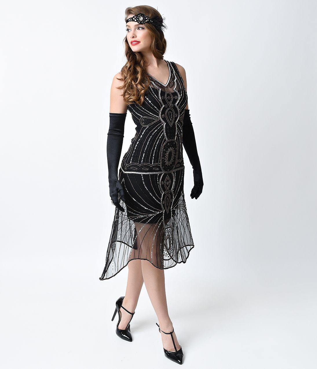 1920's Style Dresses Flapper Dresses to Gatsby dresses