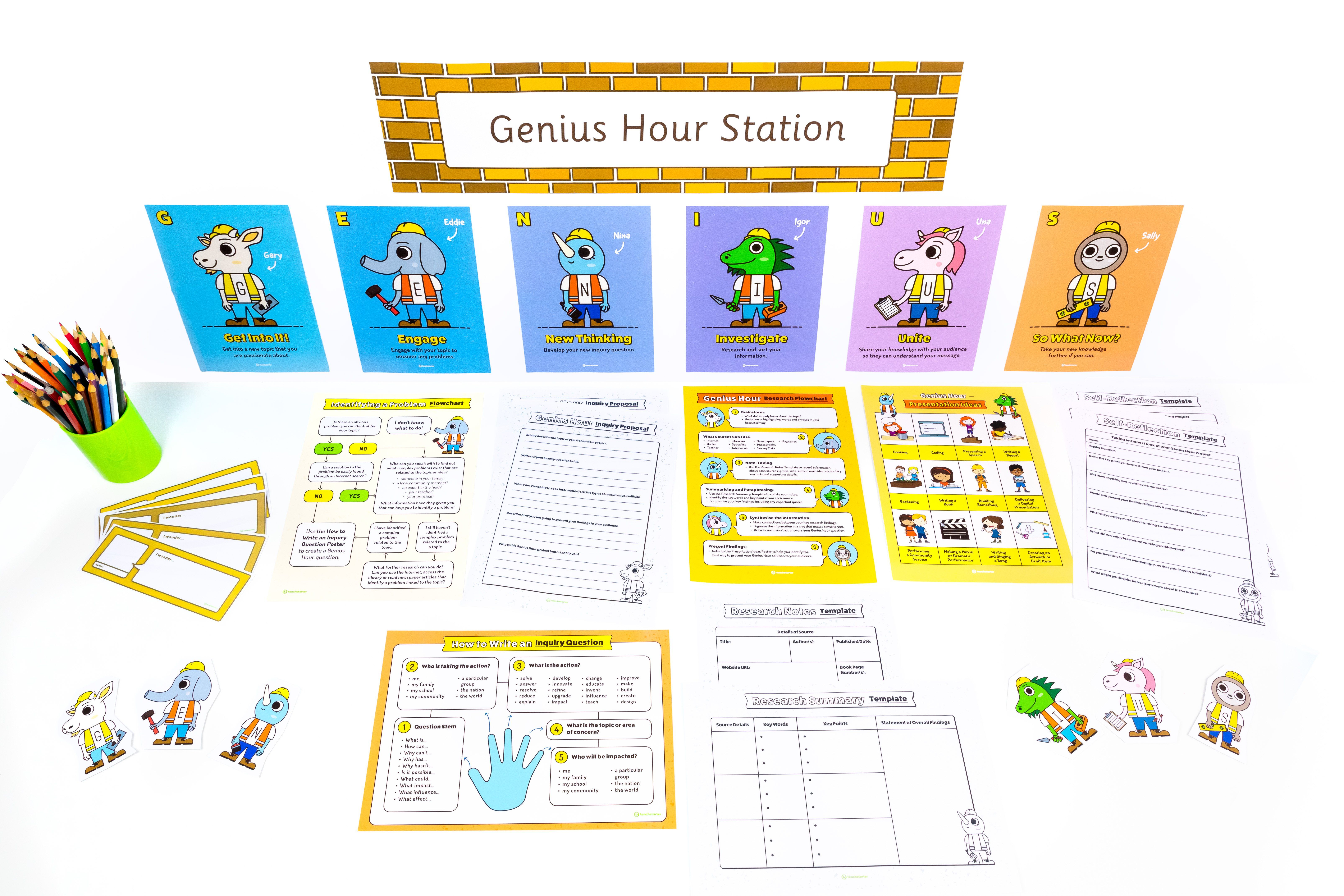 Printable Genius Hour Resources Step By Step Project