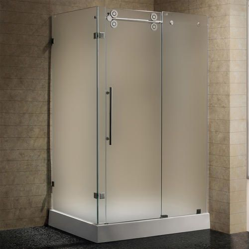 Vigo 36 Quot X 48 Quot Frosted Stainless Steel Frameless Shower