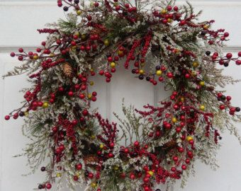 Christmas wreath holiday wreath Christmas by designsdivinebyjb