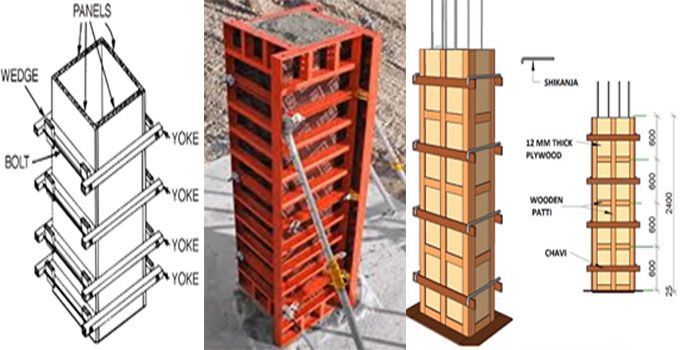 Vertical Shuttering Plywood For Wall : How to set up rcc column formwork on site designing