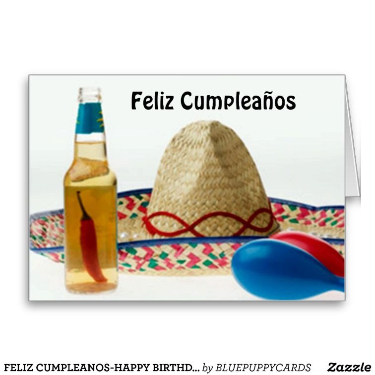 Feliz cumpleanoshappy birthday spanish card