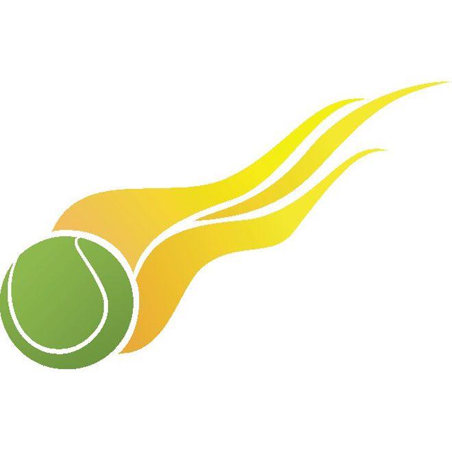 Tennis Ball On Fire Free Vector In 2020 Tennis Posters Tennis Ball Tennis