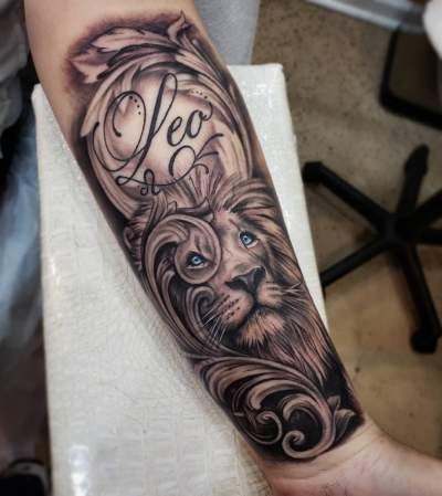 Sleeve Tattoo Design Leo Zodiac Tattoos Tattoos Zodiac Tattoos