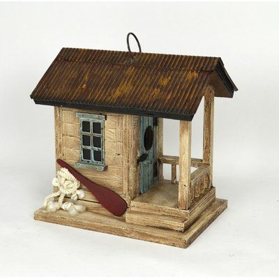 Songbird Essentials Boat Shack 8 in x 8 in x 6 in Birdhouse | Wayfair #birdhouses