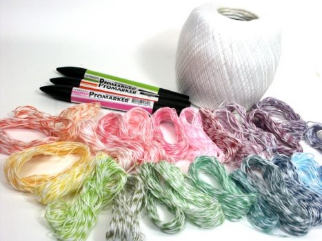"""Make your own """"baker's twine"""" tutorial. (Cheap and easy) http://thefrugalcrafter.wordpress.com/2011/04/19/make-your-own-bakers-twine/"""