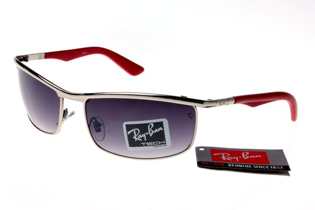 8c6706fa2435a Ray-Ban Active Lifestyle 3459 Red White Frame Gray Lens RB1163 ...