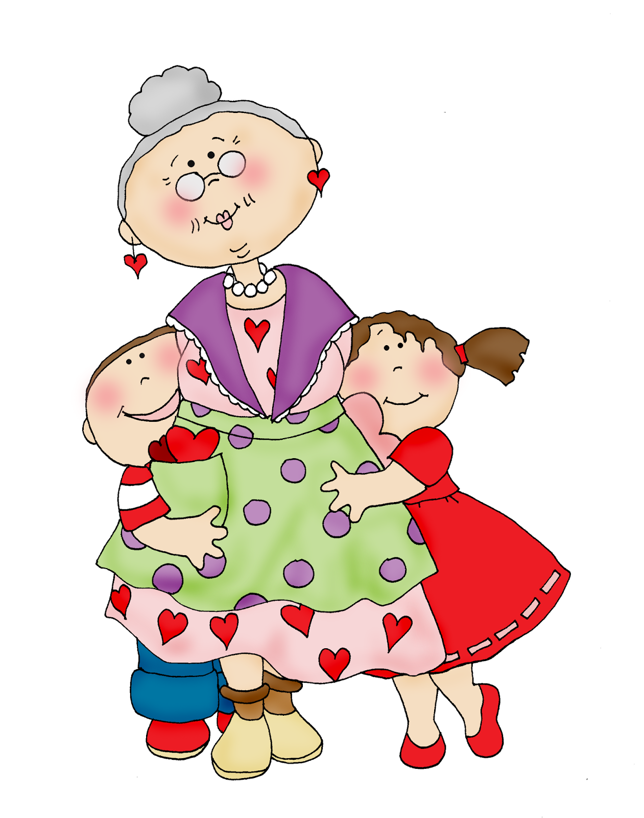 Открытку, открытки бабушке с внуками