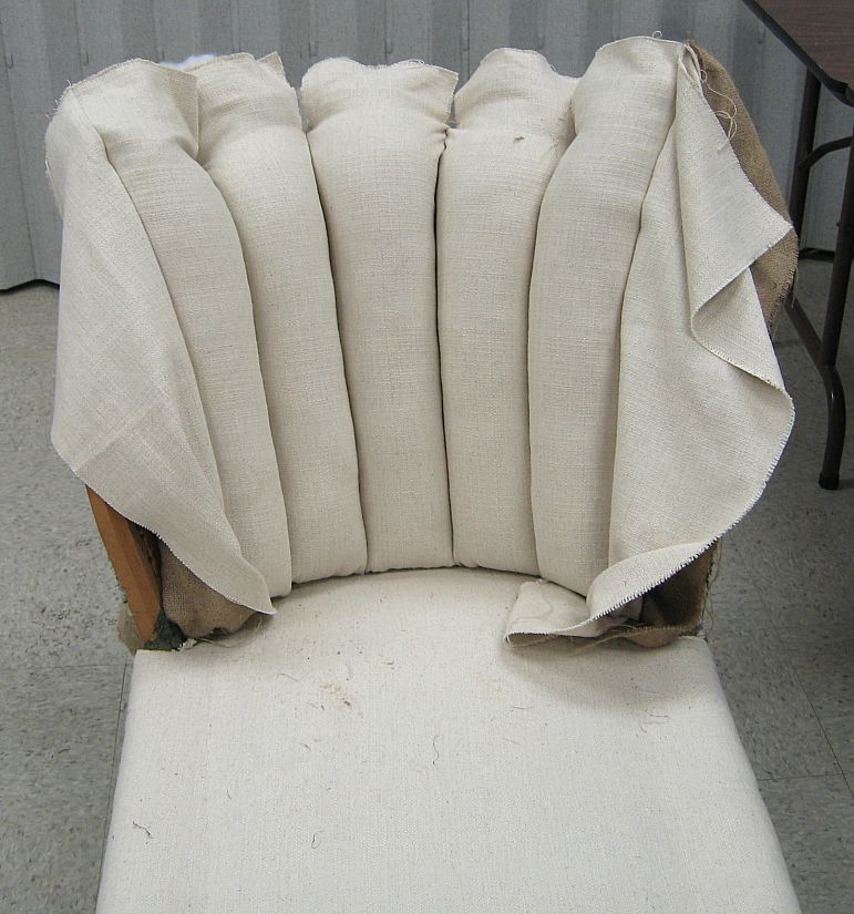 Reupholster Channel Back Chair