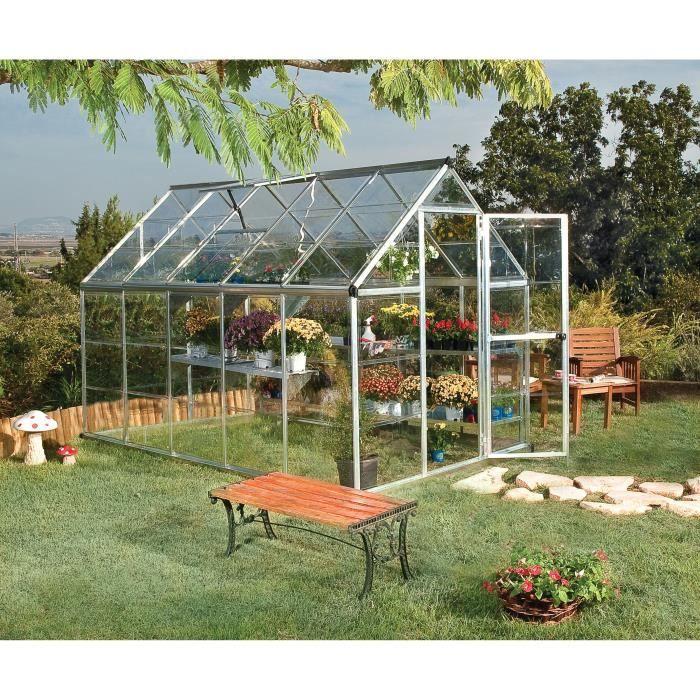 Palram Serre De Jardin Argent Harmony 5 6 M Aluminium Et Polycarbonate Serre Jardin Serre De Jardin Polycarbonate Et Maison Verte