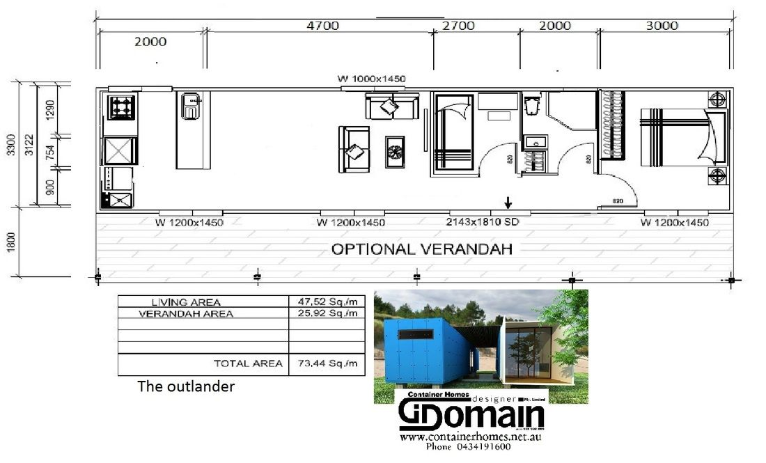 Container Homes Designer Domain Pty. Limited TA. Gi Domain Homes ABN ...
