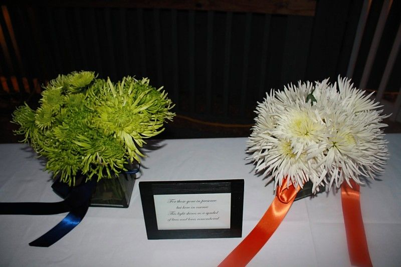 Remembrance table and flowers #wedding #memorial