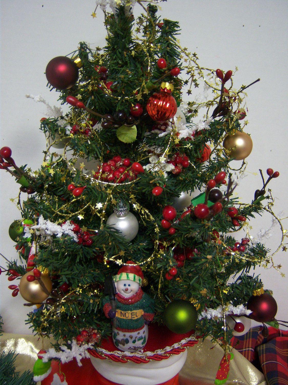Das boot christmas tree in ceramic boot planter