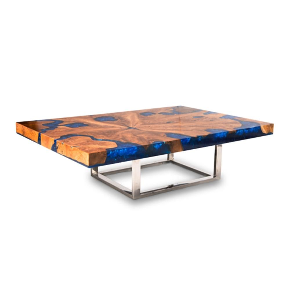 Teak Blue Resin Inlaid Cracked Wood Coffee Table By Aire Furniture In 2021 Diy Resin Furniture Resin And Wood Diy Modern Blue Coffee Table [ 1000 x 1000 Pixel ]